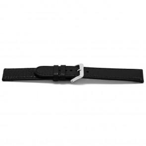 Horlogeband Universeel B113Z Leder Zwart 10mm
