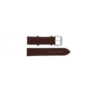 Davis horlogeband BB0231 Leder Donkerbruin 21mm + bruin stiksel