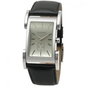 Horlogeband Burberry BU1100 Leder Zwart 26mm