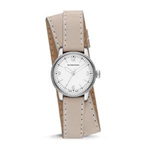 Horlogeband Burberry BU7847 Leder Beige