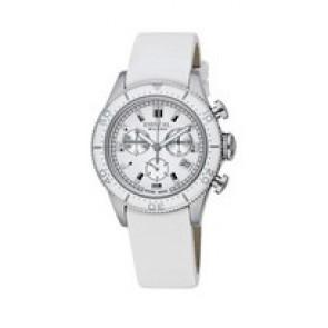 Horlogeband Breil BW0502 Leder Wit 20mm