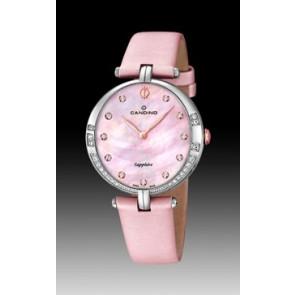 Horlogeband Candino C4601-3 Leder Roze
