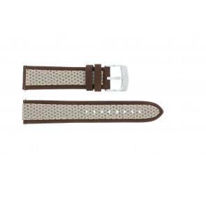 Horlogeband Camel BC50990 / A667.5327LGPA Leder/Textiel Bruin 22mm