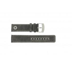 Horlogeband Camel BC51001 / A661.5536LFPA Leder Grijs 22mm