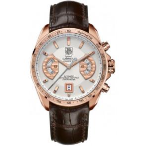 Horlogeband Tag Heuer CAV514B / BX0849 / BX0870 XL Krokodillenleer Bruin 22mm