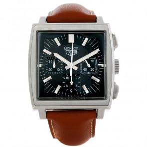 Horlogeband Tag Heuer CS2111-BC0788 Leder Bruin 22mm