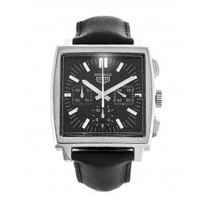 Horlogeband Tag Heuer CS2111-BC0787 Leder Zwart 22mm