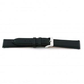 Horlogeband F012 XL Leder Zwart 18mm + standaard stiksel