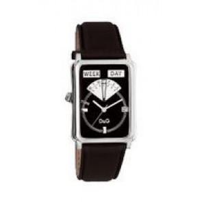Horlogeband Dolce & Gabbana DW0122 Leder Zwart