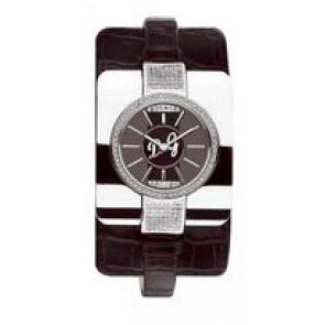 Horlogeband Dolce & Gabbana DW0161 Leder Zwart