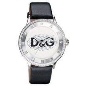 Horlogeband Dolce & Gabbana DW0507 Leder Zwart