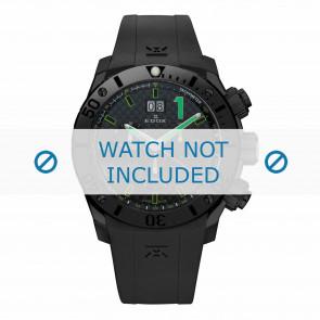 Horlogeband Edox 10020-37N-NV Silicoon Zwart 22mm