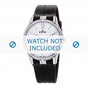 Edox horlogeband 27033-3-BIN Silicoon Zwart
