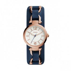 Horlogeband Fossil ES3857 Leder Blauw