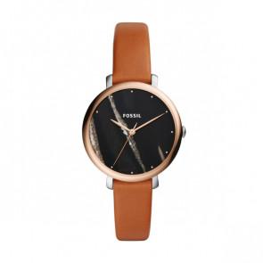 Horlogeband Fossil ES4378 Leder Cognac 14mm