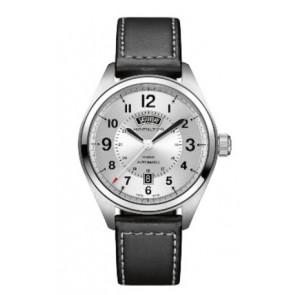 Horlogeband Hamilton H001.70.505.753.01 Leder Zwart 20mm