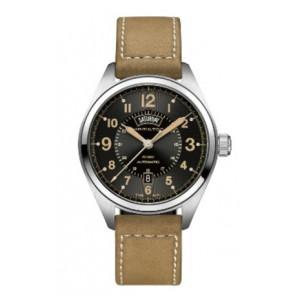Horlogeband Hamilton H001.70.505.833.01 Leder Beige 20mm