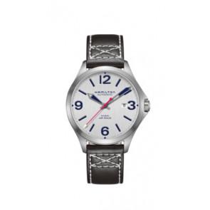 Horlogeband Hamilton H76525751 Leder Zwart 20mm