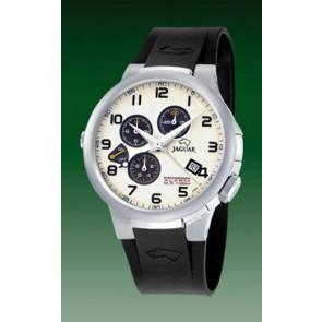 Horlogeband Jaguar J1202-01 Rubber Zwart 20mm