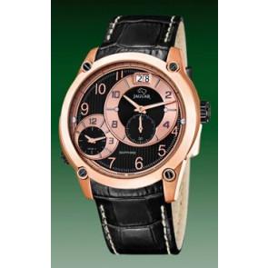 Horlogeband Jaguar J631/3 / J635/1 Leder Zwart 24mm