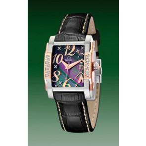 Horlogeband Jaguar J648-4 Leder Zwart