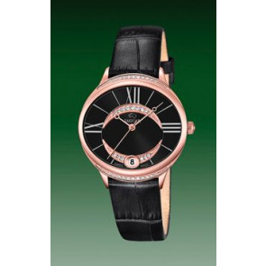 Horlogeband Jaguar J804-3 Leder Zwart