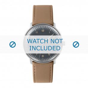 Junghans horlogeband 027/3401.00 Leder Beige 20mm + standaard stiksel