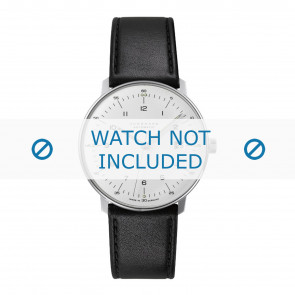 Junghans horlogeband 027/4700.00 Leder Zwart 20mm + standaard stiksel