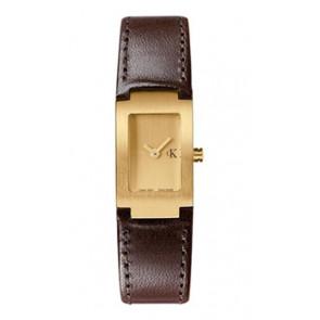 Horlogeband Calvin Klein K600026550 / K0411209 Leder Bruin