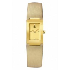 Horlogeband Calvin Klein K604022453 / K0411224 Leder Beige