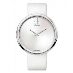 Horlogeband Calvin Klein K0V23120 Leder Wit 22mm