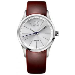 Horlogeband Calvin Klein K2241138 Leder Bruin