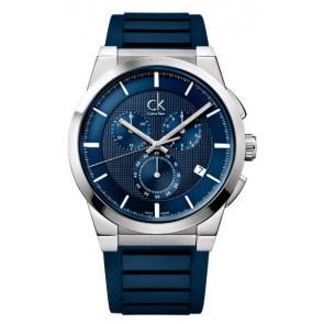 Horlogeband Calvin Klein K2S371 Rubber Blauw