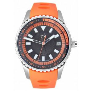 Horlogeband Calvin Klein K32112 Rubber Oranje