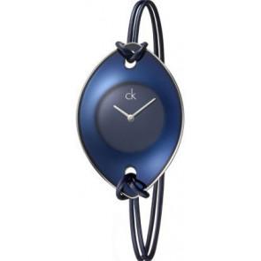 Horlogeband Calvin Klein K33237 Leder/Textiel Blauw