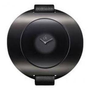 Horlogeband Calvin Klein K37231 Leder Zwart 12mm