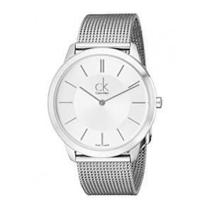 Horlogeband Calvin Klein K3M221 / K605000134 Staal Staal / RVS