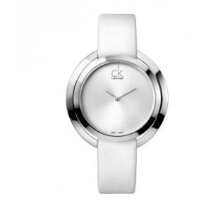 Horlogeband Calvin Klein K3U231 Leder Wit