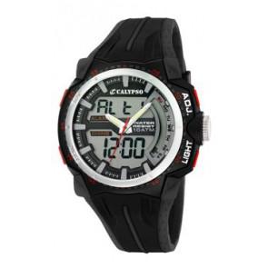 Horlogeband Calypso K5539-1 Rubber Zwart