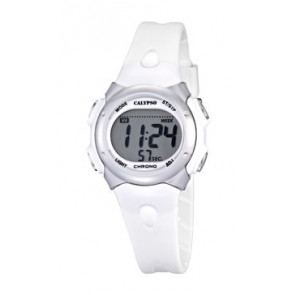 Horlogeband Calypso K5609-1 Rubber Wit