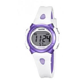 Horlogeband Calypso K5609-2 Rubber Wit