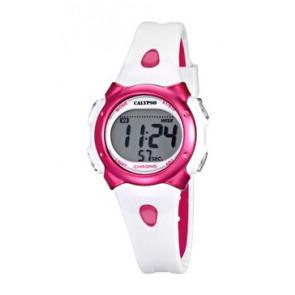 Horlogeband Calypso K5609-3 Rubber Wit