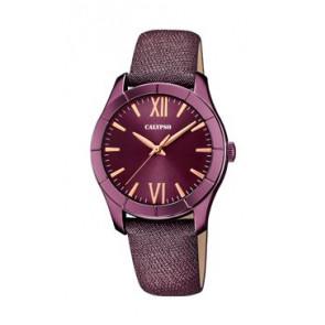 Horlogeband Calypso K5718/5 Leder Paars 17mm