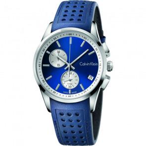 Horlogeband Calvin Klein K600.000.258 / K5A371VN Leder Blauw
