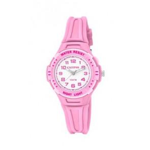 Horlogeband Calypso K6070-1 Rubber Roze