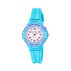 Horlogeband Calypso K6070-2 Rubber Lichtblauw