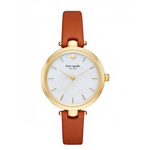 Horlogeband Kate Spade New York KSW1156 Leder Bruin 6mm