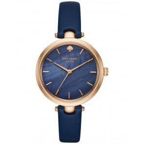 Horlogeband Kate Spade New York KSW1157 Leder Blauw 6mm