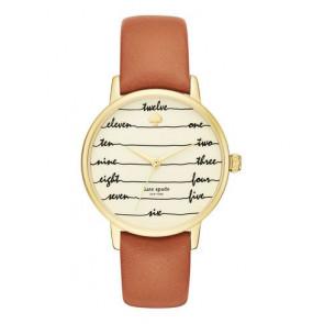 Kate Spade New York horlogeband KSW1237 / METRO Leder Bruin