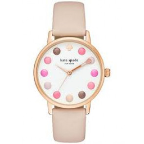 Kate Spade New York horlogeband KSW1253 / METRO Leder Roze